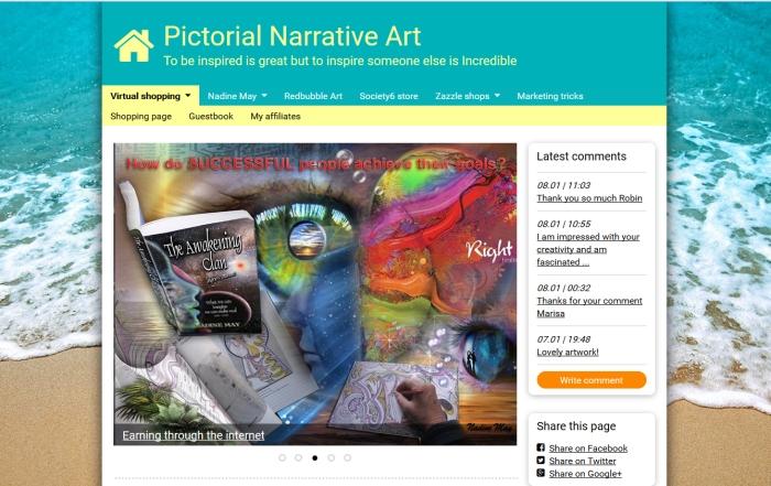 screenshot of website nadinemay