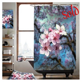 sold spring design shower curtain