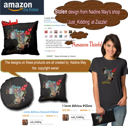 stolen African design on amazon
