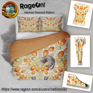 abstract-peacock-pattern-duvet
