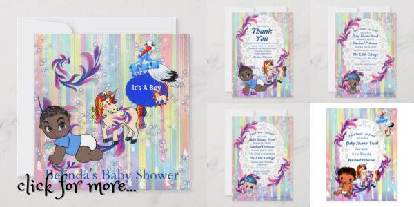 Rainbow colors, bubbles and celebration streams with 3 little Baby boys to choose from to celebrate the new arrival